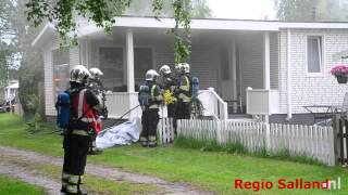 Brand chalet op camping in Fortmond