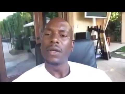 Best Message For Haters By Tyrese Gibson