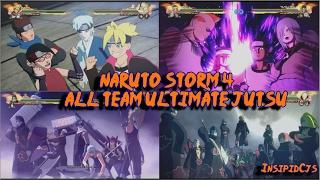 Naruto Storm 4: All Team Ultimate Jutsu / Linked Secret Techniques (Inc DLC & Boruto) English