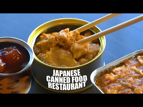 Weird Japanese Canned Food Restaurant ★ ONLY in JAPAN