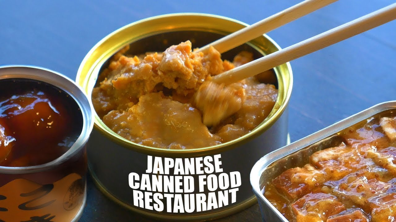 japanese canned food restaurant only in japan youtube