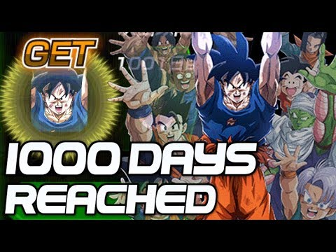 1000 DAYS REACHED! 100% LR Spirit Bomb Goku Dragon Ball Z Dokkan Battle