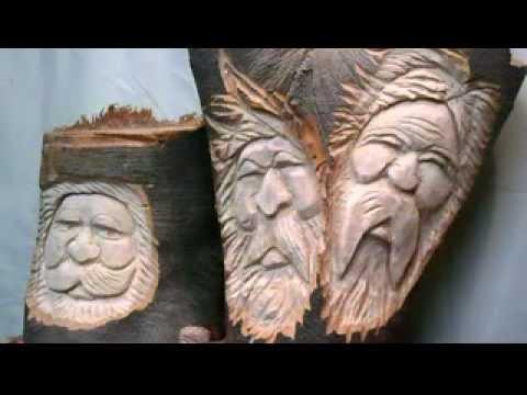 Carving A Simple Wood Spirit Funnydog Tv