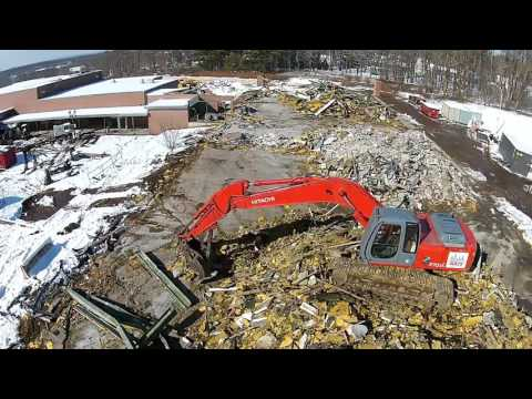 Demolished D-Wing - Flying at Enfield High School - Feb 6, 2016