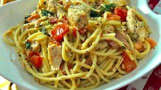 Dinner For Two  Lemony Chicken & Bacon Bucatini  I Heart Recipes