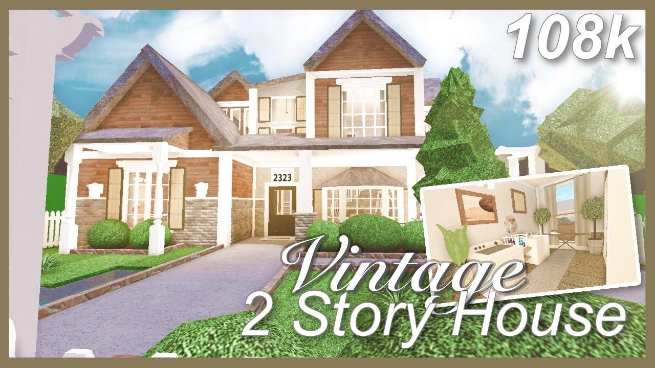 Bloxburg Vintage 2 Story House Speed Build Youtube