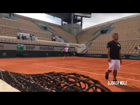Novak Djokovic First Practice - Roland Garros 2018 (HD)