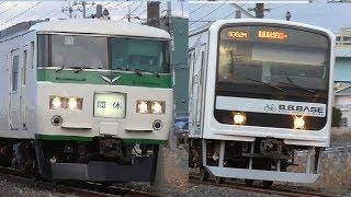 総武本線 185系B5編成 成田山初詣臨時列車(団体幕)  B.B.BASE 佐倉