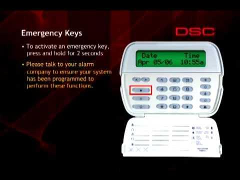 Dsc Powerseries Emergency Alarm Keys Amp Panic Buttons Youtube
