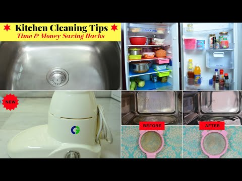 Amazing Kitchen Cleaning Tips / Hacks | Great Habits for a Clean & Organized Kitchen | Urban Rasoi