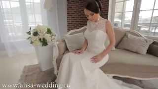 Свадебное платье из кружева, силуэт рыбка.