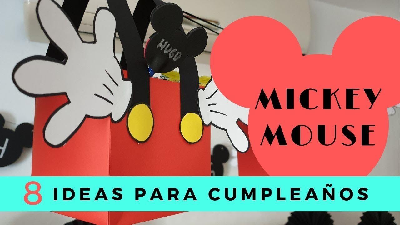 8 Manualidades De Mickey Mouse Para Fiestas Y Cumpleaños Youtube