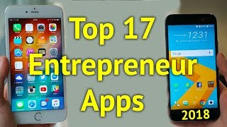 Top 17 Entrepreneur Apps 2018 | Entrepreneur News