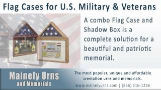 U.s. Military & Veteran Flag Cases And Cremation Urns