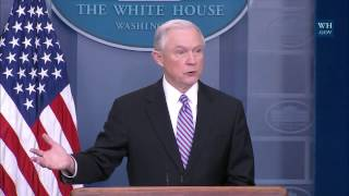 Jeff Sessions strong statement on Sanctuary Cities and Criminal Illegal Immigrants At Press Briefing Free HD Video