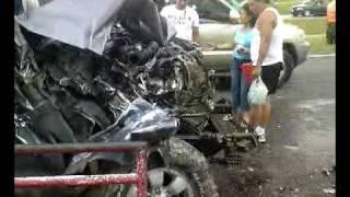 accidente de la toyota en la autopista rafael caldera