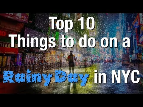Top 10 Things To Do In New York City On A Rainy Day ! ☔ (NYC Travel Tips)