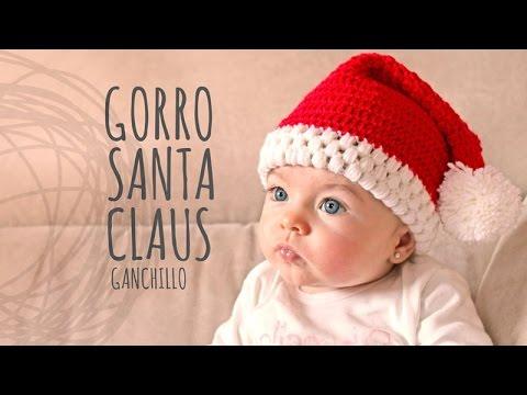 Tutorial Gorro Papá Noel Ganchillo o Crochet - YouTube
