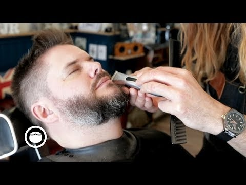 Barber Shows How to Clean Up Beard and Hair | Jack Rabbit's Barbershop