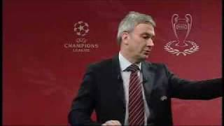 UEFA Champions League 08/09 Quater-finals, Semi-finals and Final draw