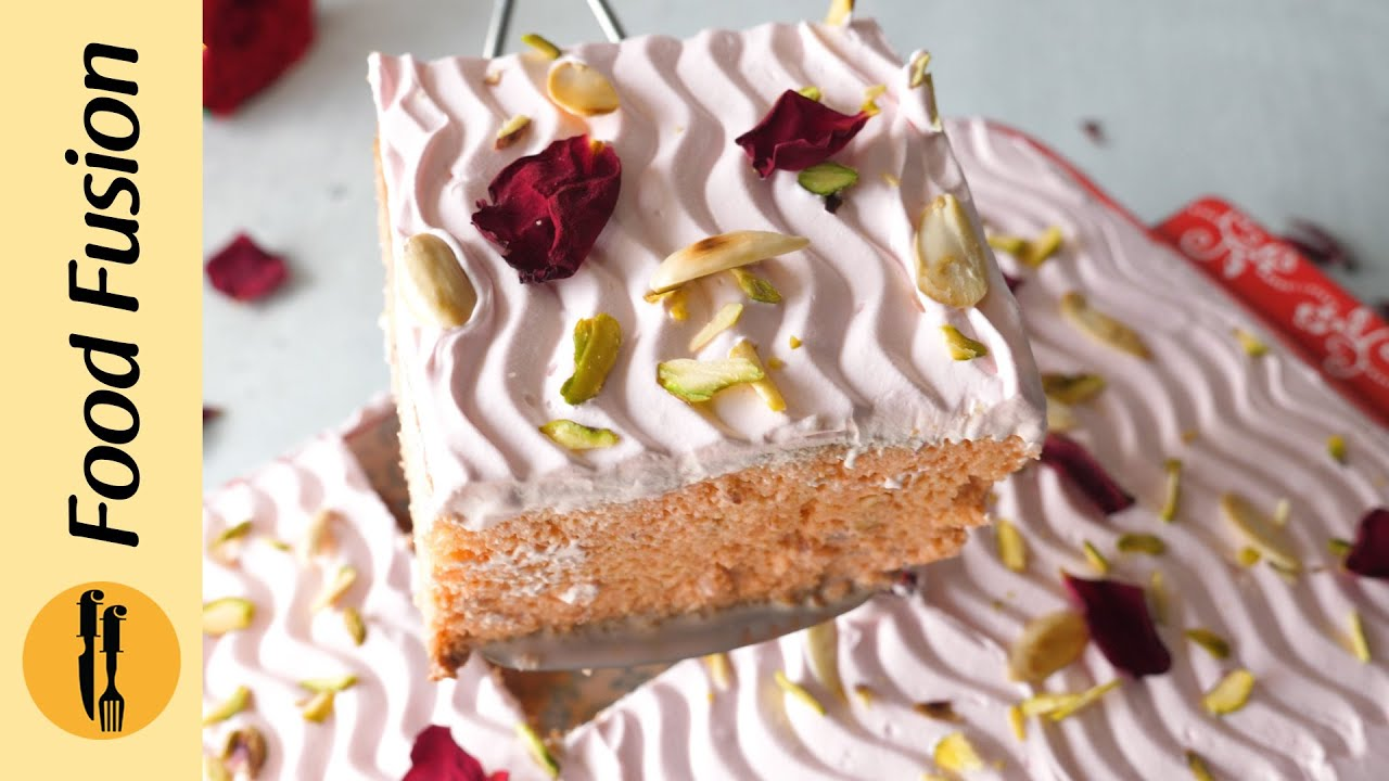 Eid Special Rose Milk Cake Recipe by Food Fusion