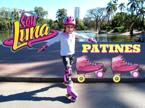 💕SOY LUNA PATINES patinando por primera vez en el Parque⛸ Aprendiendo a patinar con Casco