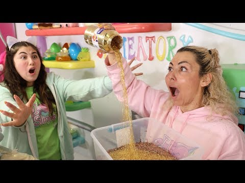 DESTROYING ALL OF AMEERAH'S GLITTER for SLIME AND GAVE HER 10,000 NEW ONES!