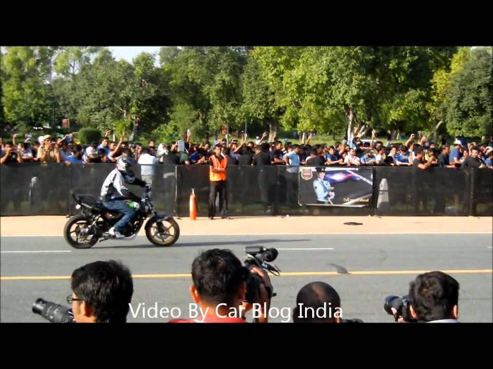 Ghost Riders Bike Stunts At Rajpath Delhi Youtube