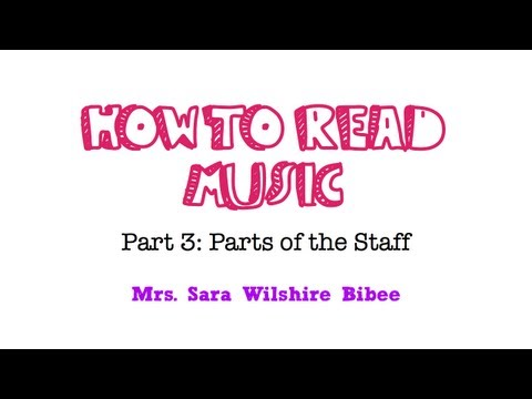 How to Read Music Parts of the Staff