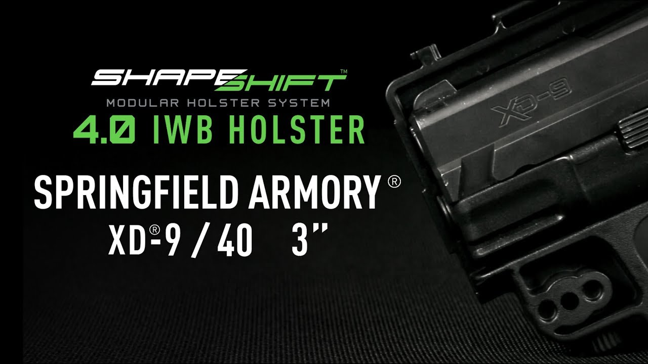 Springfield XD 9mm/40 cal Subcompact IWB Holster For Concealed Carry -  Alien Gear Holsters