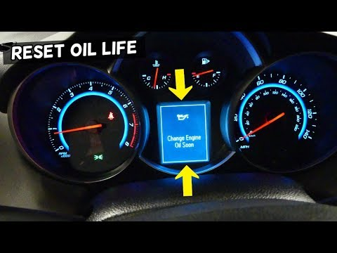 HOW TO RESET CHANGE ENGINE OIL SOON WARNING ON CHEVROLET CRUZE, CHEVY CRUZE SONIC