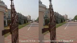 Canon EF 24-85mm f3.5-4.5 USM vs Canon EF 24-70mm f2.8L video test(, 2015-08-27T15:41:22.000Z)