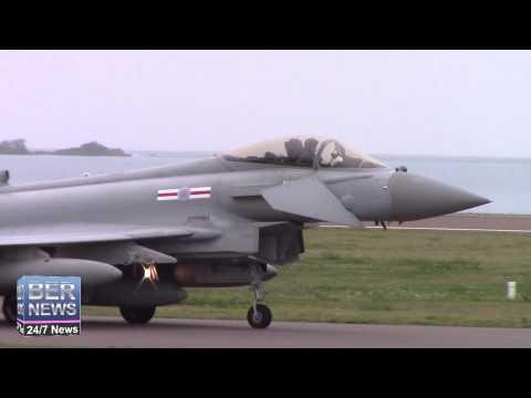 RAF Typhoons & Voyager Landing In Bermuda, January 6 2015