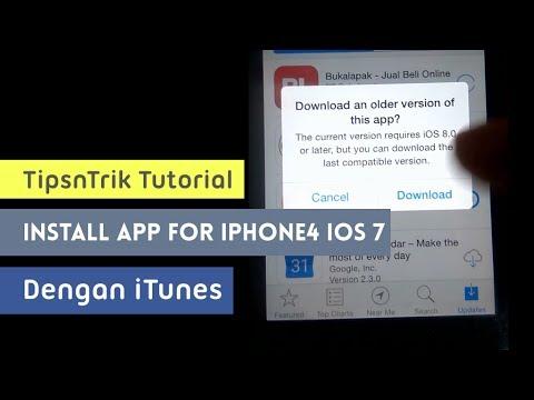 Cara Install Aplikasi iOS lama agar Kompatible di iPhone4 iOS 7