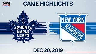 NHL Highlights   Maple Leafs vs. Rangers – Dec. 20, 2019