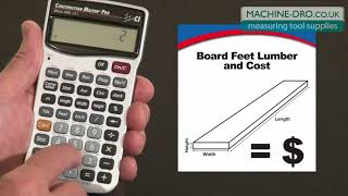 Construction Master Pro Board Feet Lumber Cost How To from Calculated Industries