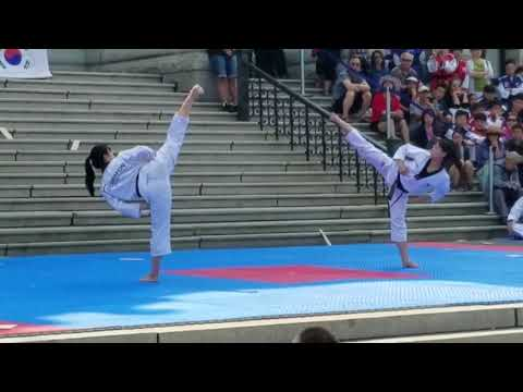 Kukkiwon Taekwondo Demo Team - Victoria, BC - Aug 8, 2017