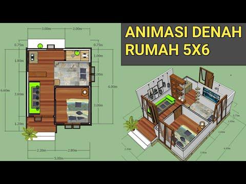 35+ denah rumah kayu ukuran 4x6, yang populer!