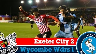 Exeter 2-1 Wycombe (21/10/14) - Sky Bet League 2 Highlights 2014/15