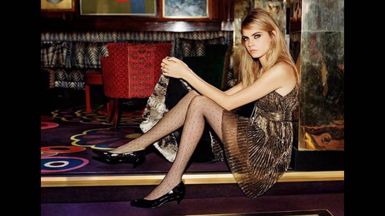 Cara Delevingne Shows off Her Pantyhose