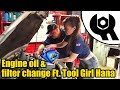 Holden Astra (2007) Engine oil & filter change Ft.Tool Girl Hana #1838