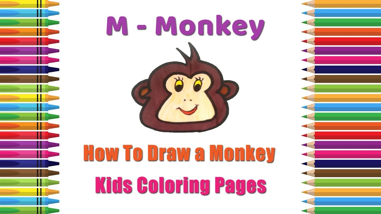 How To Draw Monkey Coloring Pages