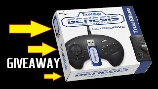 Give Away for True Blue Mini Sega Genesis UltraDrive Hack Stick add 800+ games