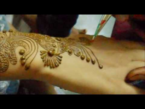 Indian Arabic Henna Mehndi Design Making-Step By Step Arabic Mehendi Style