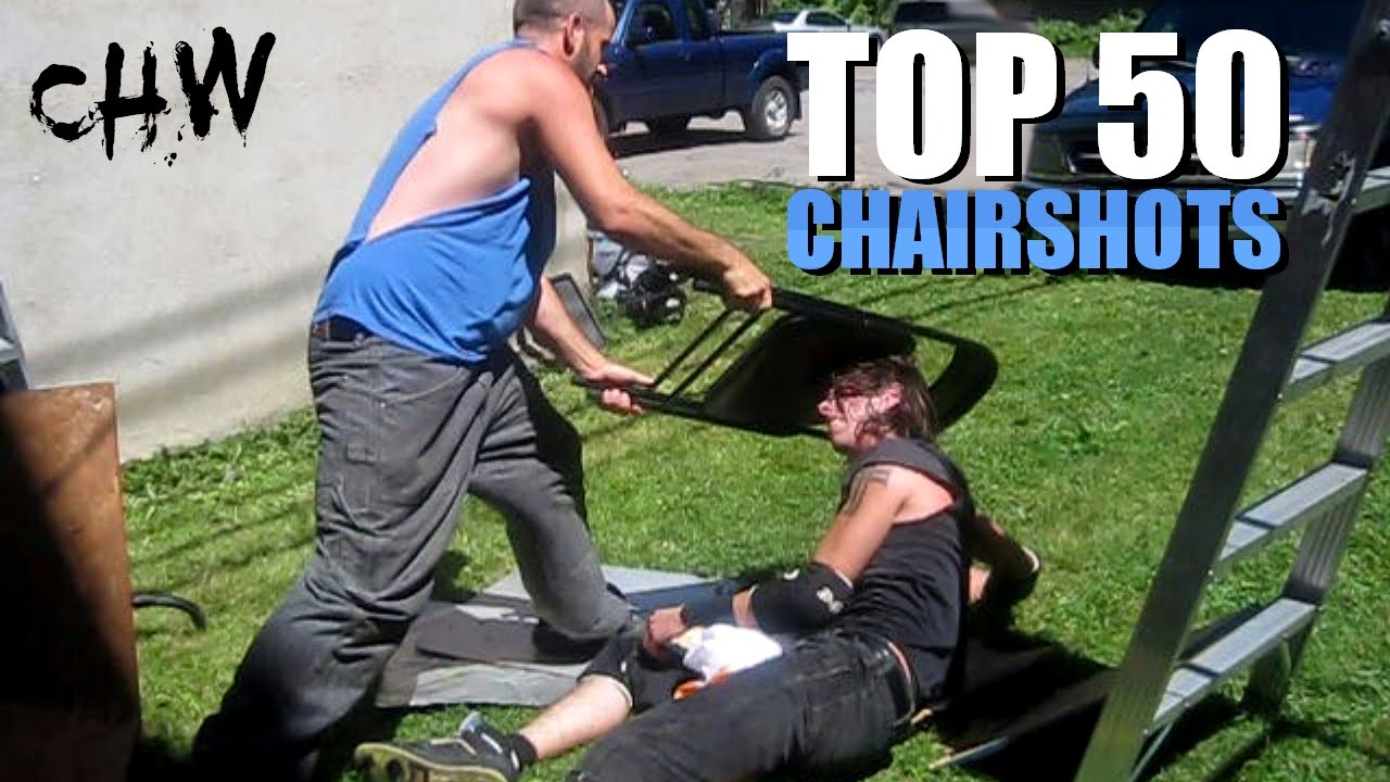top 50 chairshots in chw backyard wrestling history youtube