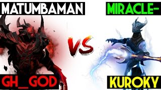 Liquid Civi War | Miracle- & KuroKy VS Matumbaman & Gh_God -Dota 2 7.05