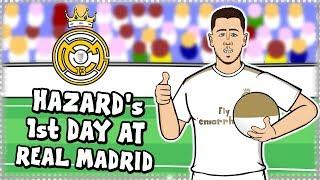 EDEN HAZARD39s FIRST DAY AT REAL MADRID