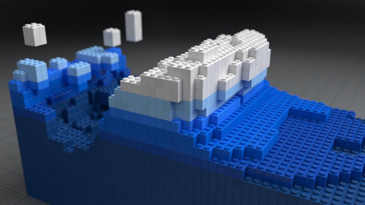 Lego Fluid Effect - BlenderNation