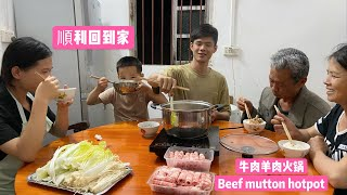 Xiaodong: Go back to my hometown and reunite with my family.  Eat beef hot pot