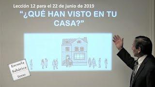 ¿Qué han visto en tu casa? Lección 12 para el 22 de Junio de 2019